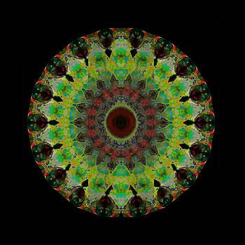 Sharon Cummings - Heart Aura - Mandala Art By Sharon Cummings