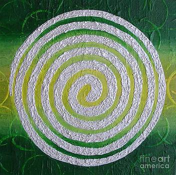 Heart Chakra Spiral  by Marcella Nordbeck