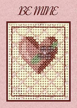 Ruth Soller - Valentine Heart pink card