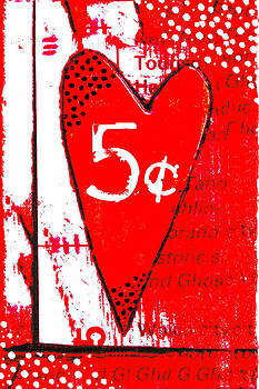 Carol Leigh - Heart Five Cents Red