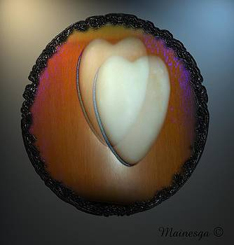 Heart Marble-2 by Ines Garay-Colomba