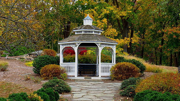 Hearthstone Castle Park Gazebo by Stephen Melcher