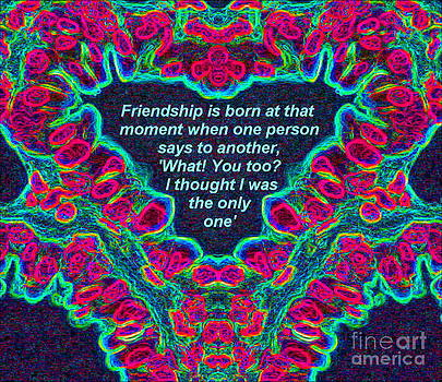 Drinka Mercep - Hearts Abstract Colorful Quote Art Print No.49