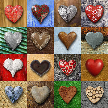Hearts collage by Ron Sumners
