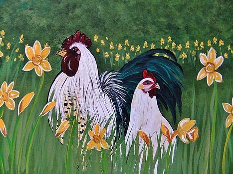 Hector and Henreitta Spring Stroll by Cindy Micklos