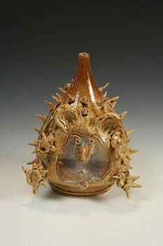 Hedgehog Face Jug by Thomas Bumblauskas