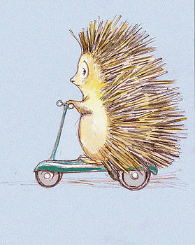 Peggy Wilson - Hedgehog on Scooter