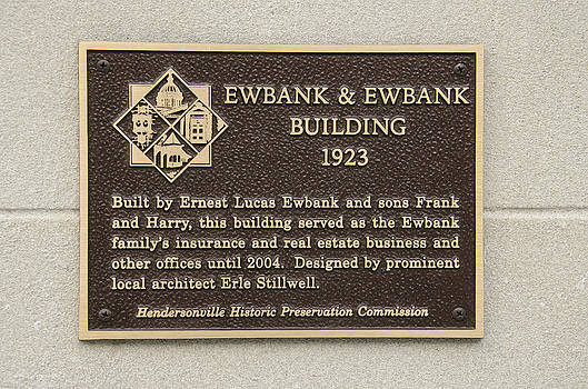 Hendersonville Historic Preservation Commision plaques Ewbank and E by Wesley Corn