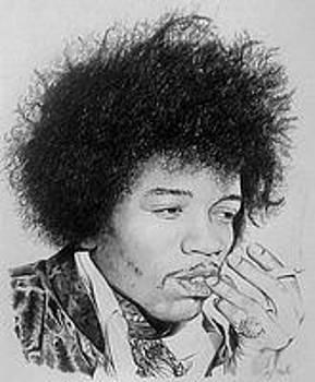Hendrix in pencil by Steven Beattie