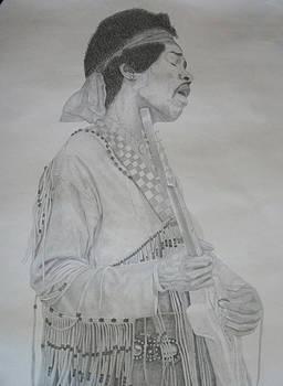 Jimi Hendrix pencil drawing. by Photo Shirts