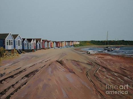 Hengistbury Beach Huts by Linda Monk