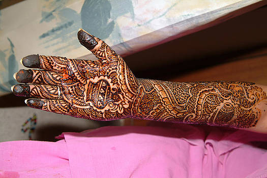 Devinder Sangha - Henna on arm and hand