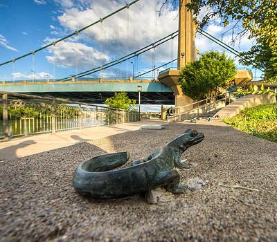 Hennepin Ave Bridge Salamander by Christopher Broste