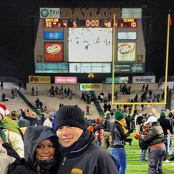 Her First Baylor Game... 24 Degrees by Michael Sitzman