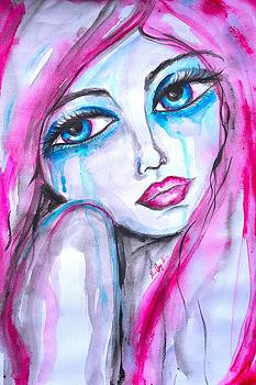 Her Pink sadness by Marley Art