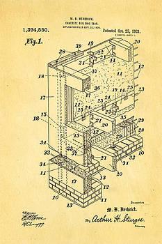 Ian Monk - Herbrick Concrete Building Slab Patent Art 1921