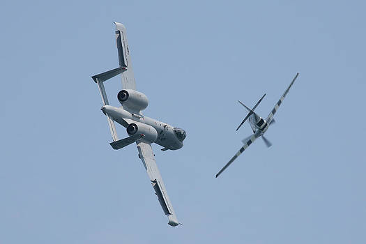 Donna Corless - Heritage Flight A10 and P51 Cross Over 2