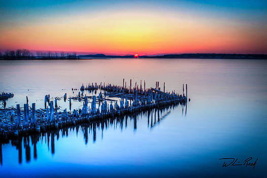 William Reek - Heritage Pilings Sunset Soft
