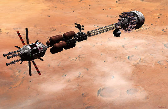 Hermes1 over Mars by David Robinson