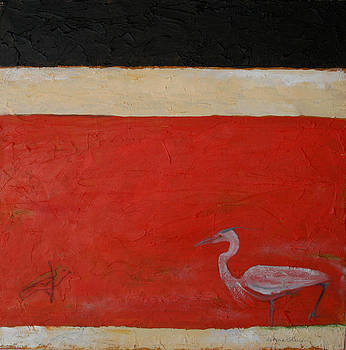 Victoria Sheridan - Heron and small bird