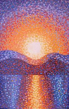 Heron Lake Sunset by Deliara Yesieva