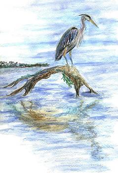 Ellen Miffitt - Heron on a Log