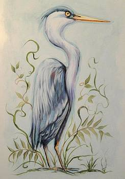 Heron by Sandra Lett