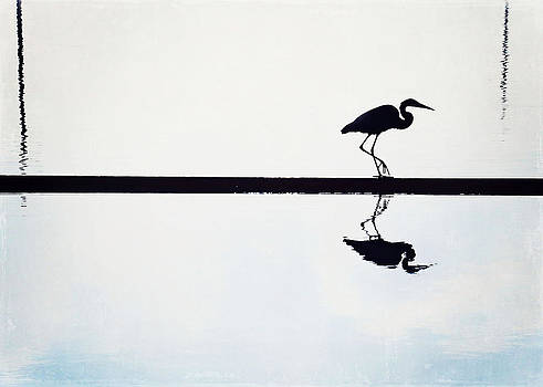 Heron Silhouette by Jessie Gould