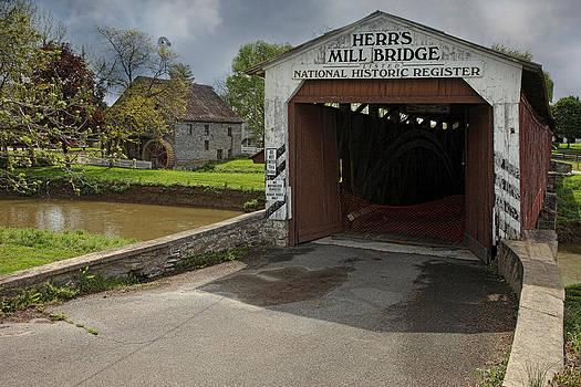 Herr's Mill And Bridge by Pat Abbott