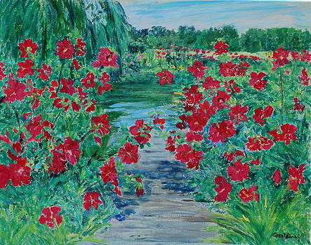 Hibiscus Pond by Carol Gray