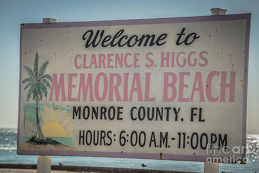 Ian Monk - Higgs Beach Sign Closeup - Key West - HDR Style