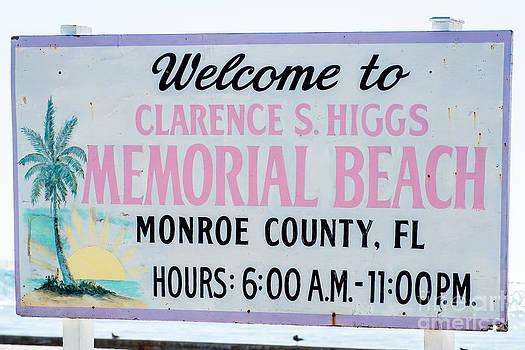 Ian Monk - Higgs Beach Sign Closeup - Key West
