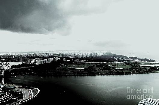 High Contrast Singapore Storm by Greg Cross