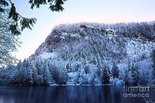 High Mountain Lake in Winter by Stacey Lynn Payne