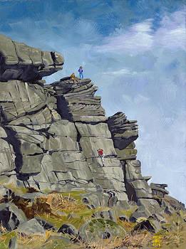 High Neb Buttress Stanage Edge by Mick Wren