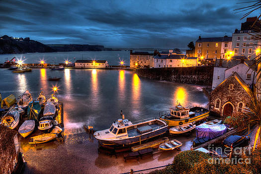 High Tide Tenby Harbour by Simon West