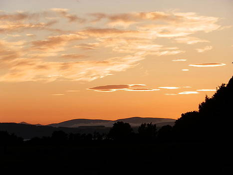 Highland Sunset by Carolyn Cable