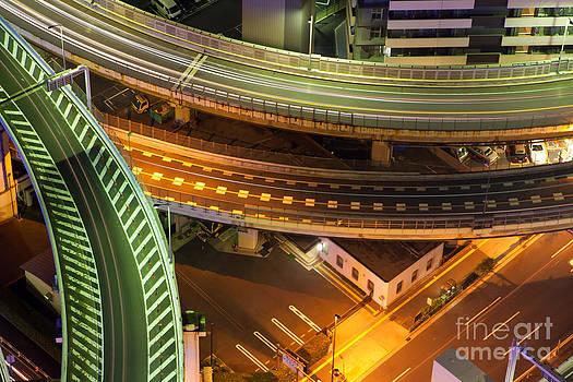 Fototrav Print - Highway cityscape Tokyo skyline Japan