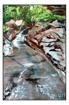 Hiker by Stream by Joseph Wetzel