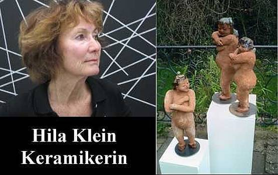 Hila Klein with sculpture by Hila Klein   Germany