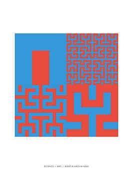 Martin Krzywinski - Hilbert Curves of Order 1 2 3 and 4