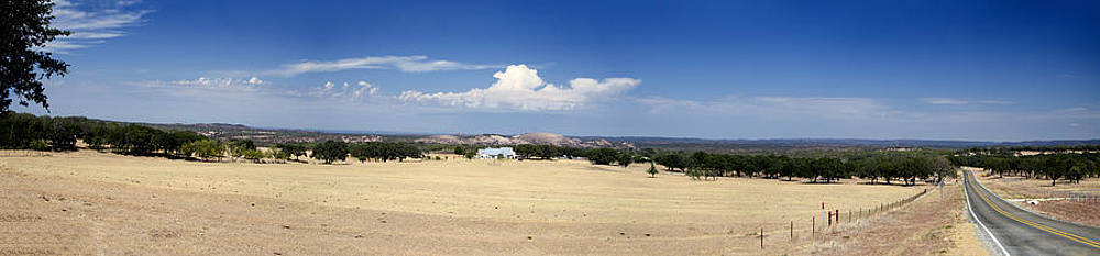 Hill Country and Enchanted Rock Panorama by Greg Reed