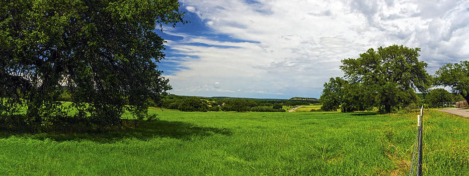 Hill Country Burnet County Rd 335 Panorama II by Greg Reed