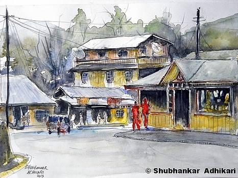 Hill Townscape by Shubhankar Adhikari