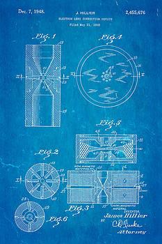 Ian Monk - Hillier Electron Microscope Patent Art 1948 Blueprint