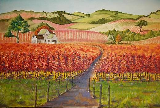 Hills of Grapes by Terry Godinez