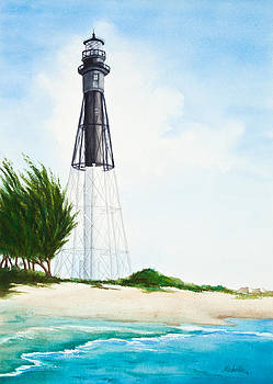 Hillsboro Point Inlet Florida Lighthouse by Michelle Constantine