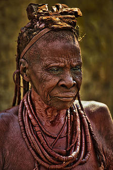 Paul W Sharpe Aka Wizard of Wonders - Himba Tribe Elder Wearing Necklaces