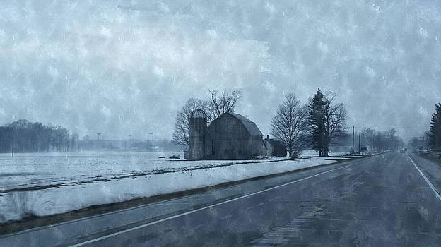 Rosemarie E Seppala - Hip Roof Barn And Old Silo