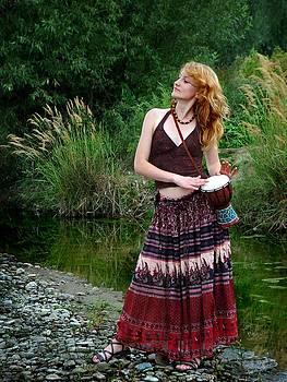 Hippie Girl by Pavlo Kuzyk